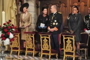 Charlène, Caroline e Alberto il 17 novembre giorno della festa nazionale