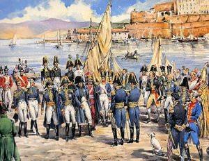 l'arrivo di Napoleone all'Elba