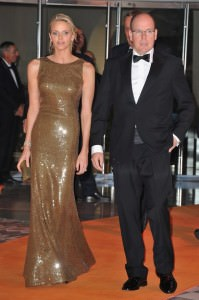 Alberto e Charlène al gala del Gran Prix de Monaco