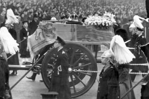 FUNERAL OF KING GEORGE VI (DIED 6/2/52) FEBRUARY 1952   DEATH O