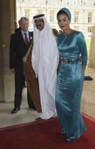 L'emiro del Quatar insieme alla moglie