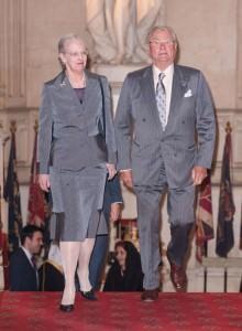 La regina di Danimarca e il principe Henrik