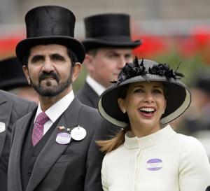 Lo sceicco e la principessa Haya ad Ascot nel 2010