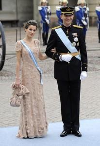Letizia e Felipe a Stoccolma al matrimonio della principessa ereditaria Victoria