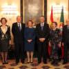 Re Juan Carlos e il presidente Napolitano a Lisbona