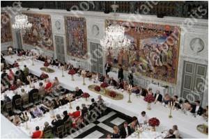 Christiansborg - Il salone delle feste - allestimento1
