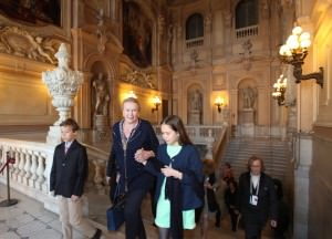 Torino 17/04/ 2015 Foto Giorgio Nota: LA PRINCIPESSA MARIA GABRIELLA DI SAVOIA PRESENTA LA MOSTRA SUI LUOGHI DELLE OSTENSIONI DELLA SINDONE A PALAZZO REALE