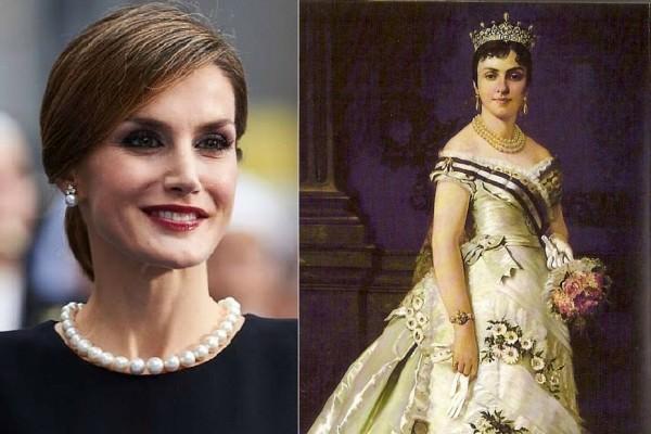 Quattro regine di Spagna e un solo straordinario collier di perle