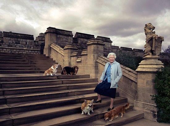 Elisabetta-90-anni-corgi