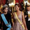 """La prima volta di Letizia con il diadema Ansorena """"Fleur de lys"""""""
