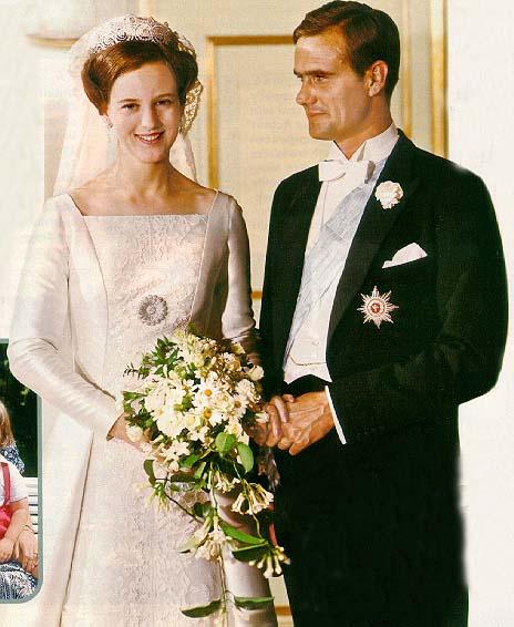 Margrethe ed Henrik appena sposati