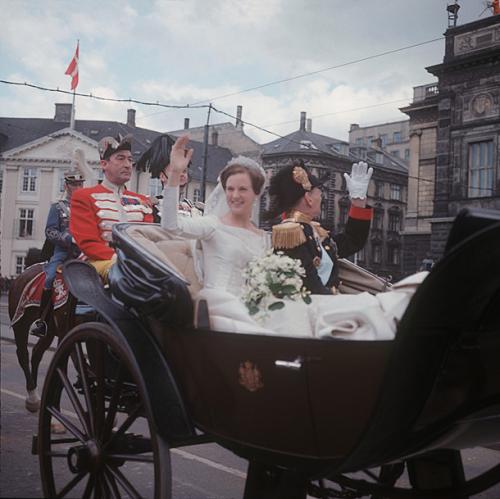 Margrethe ed Henrik, l'arrivo della sposa