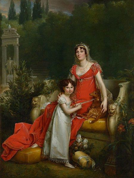 figlio di Napoleone, Elisa e la figlia