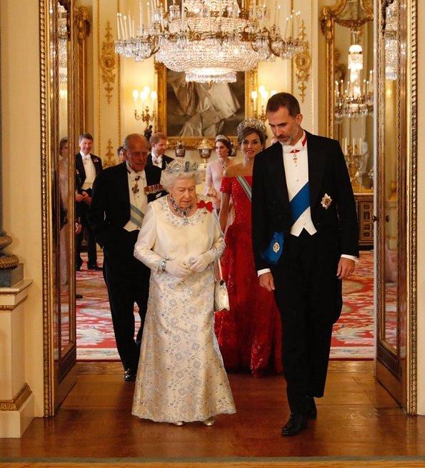 tavola della regina - Felipe e Letizia