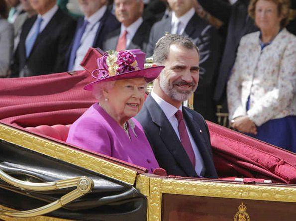 Felipe e Letizia a Londra, il re e la regina