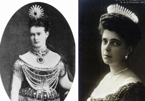 Fringe tiara, Romanov e Grecia