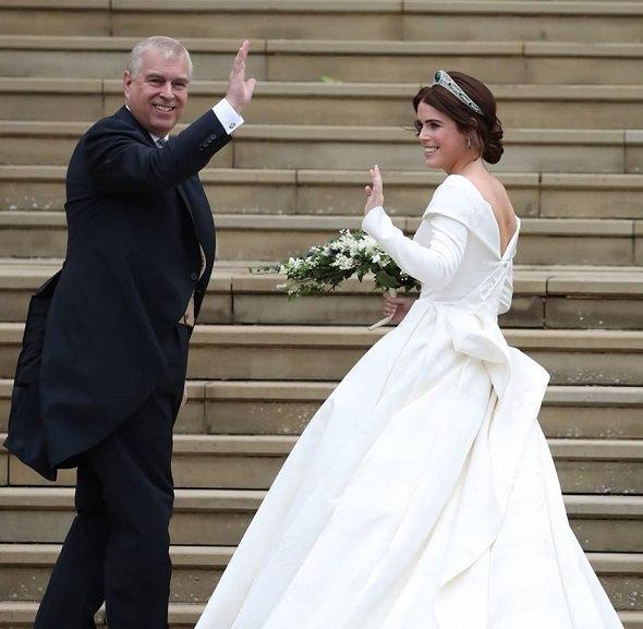 Il duca di York con la principessa Eugenie