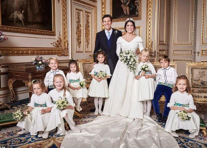 vestibilità classica ultime versioni vari design Nozze in verde con smeraldi per Eugenie e Jack sposi a Windsor