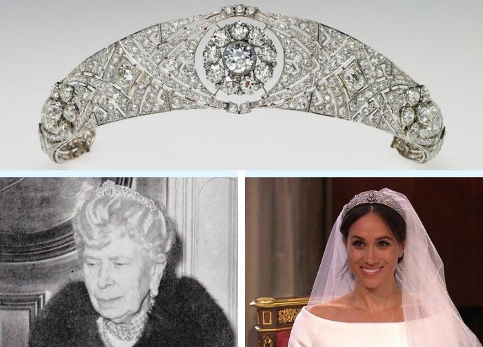 Il diadema indossato da Meghan eredità della Queen Mary