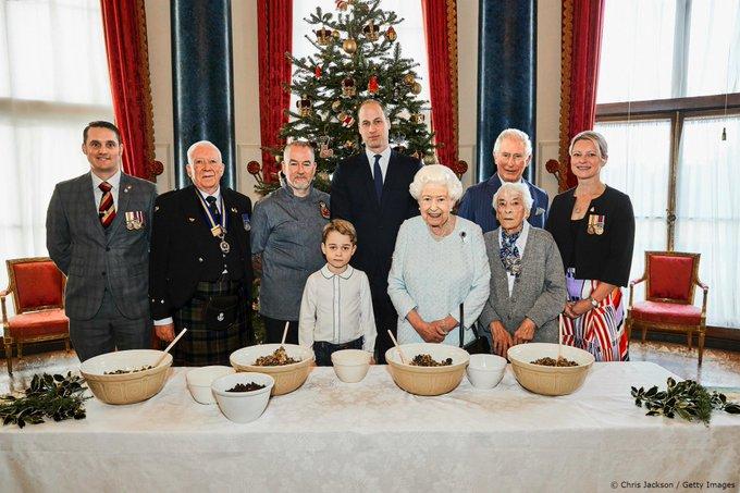 Il Christmas pudding della regina