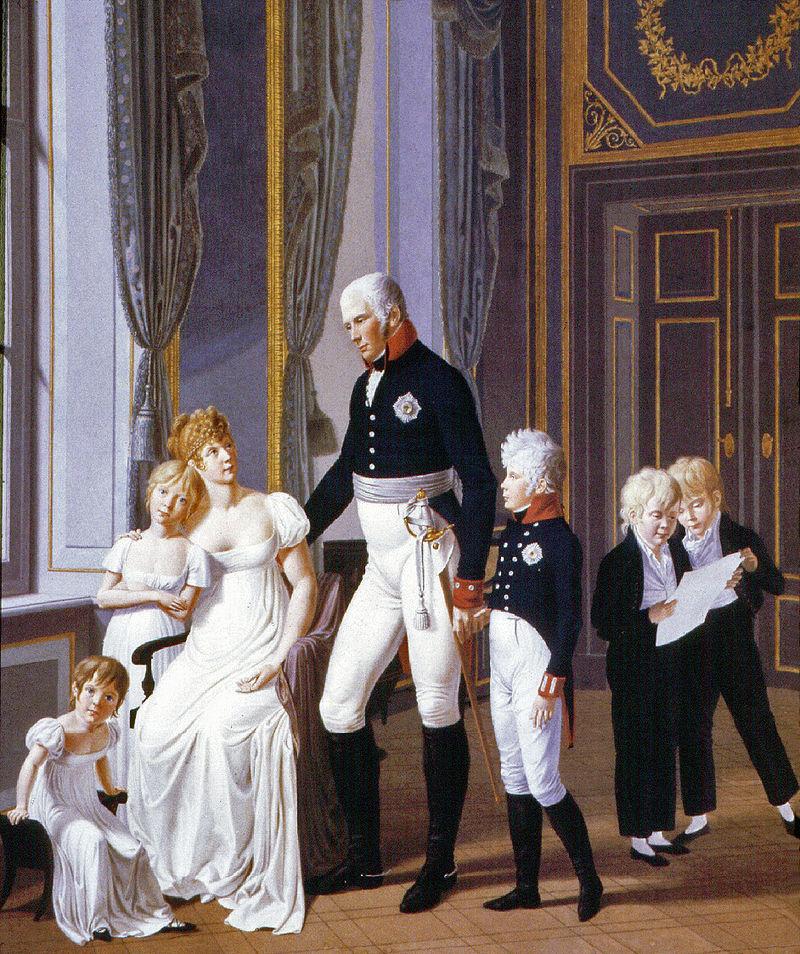 Luisa di Prussia con i figli