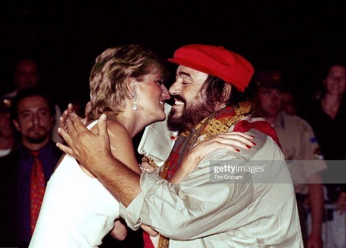 Amicizia lady D e Luciano Pavarotti